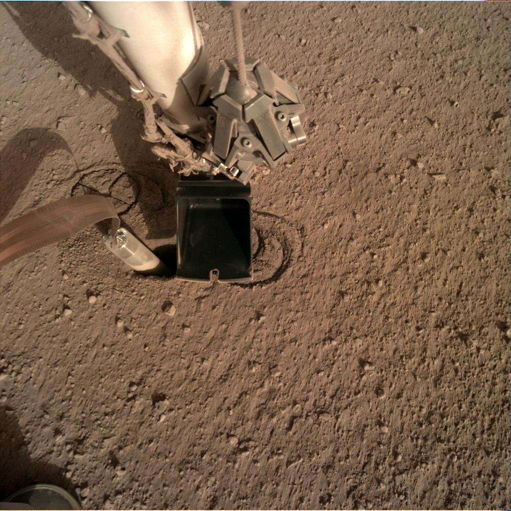 Nasa's Mars lander InSight acquired this image using its Instrument Deployment Camera on Sol 237