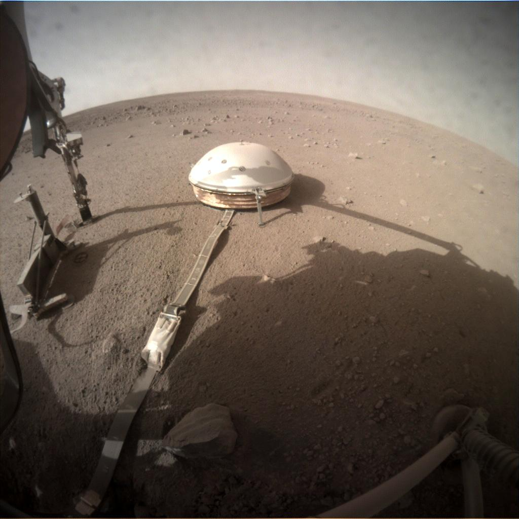 Nasa's Mars lander InSight acquired this image using its Instrument Context Camera on Sol 238