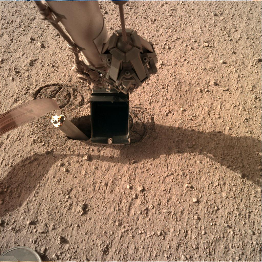 Nasa's Mars lander InSight acquired this image using its Instrument Deployment Camera on Sol 238