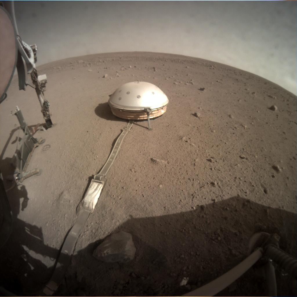 Nasa's Mars lander InSight acquired this image using its Instrument Context Camera on Sol 240