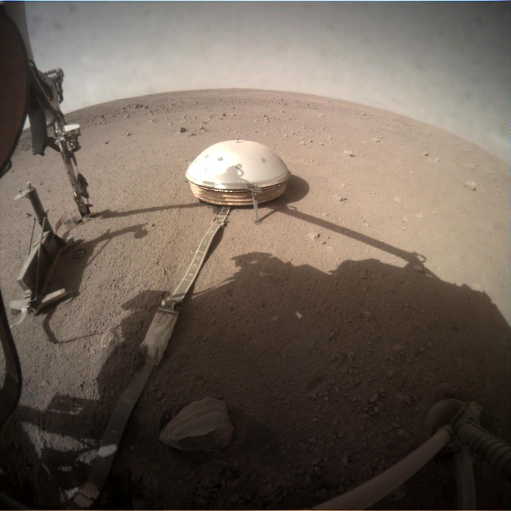 Nasa's Mars lander InSight acquired this image using its Instrument Context Camera on Sol 243