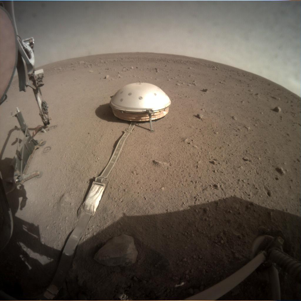Nasa's Mars lander InSight acquired this image using its Instrument Context Camera on Sol 246
