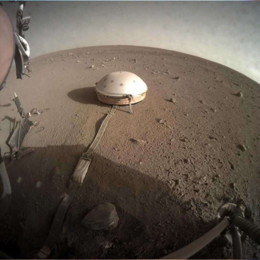 Nasa's Mars lander InSight acquired this image using its Instrument Context Camera on Sol 249