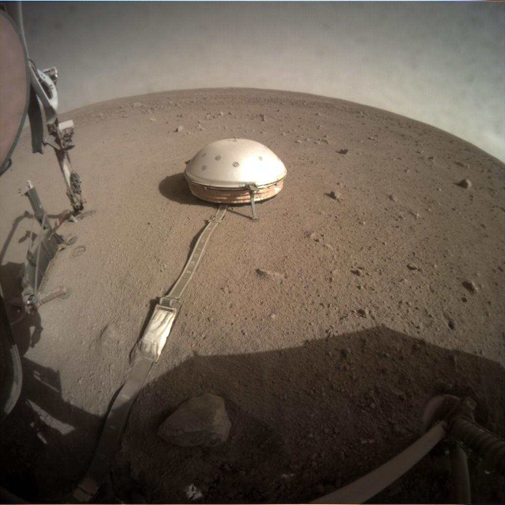 Nasa's Mars lander InSight acquired this image using its Instrument Context Camera on Sol 250