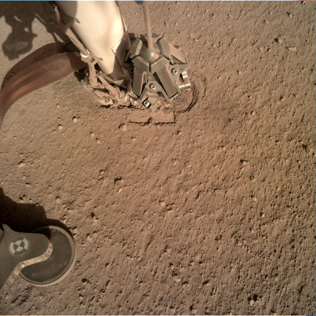 Nasa's Mars lander InSight acquired this image using its Instrument Deployment Camera on Sol 250