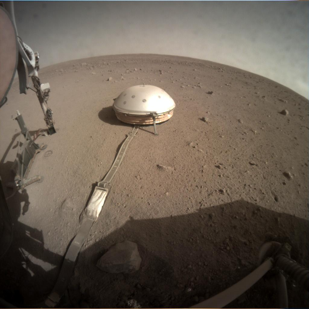 Nasa's Mars lander InSight acquired this image using its Instrument Context Camera on Sol 253