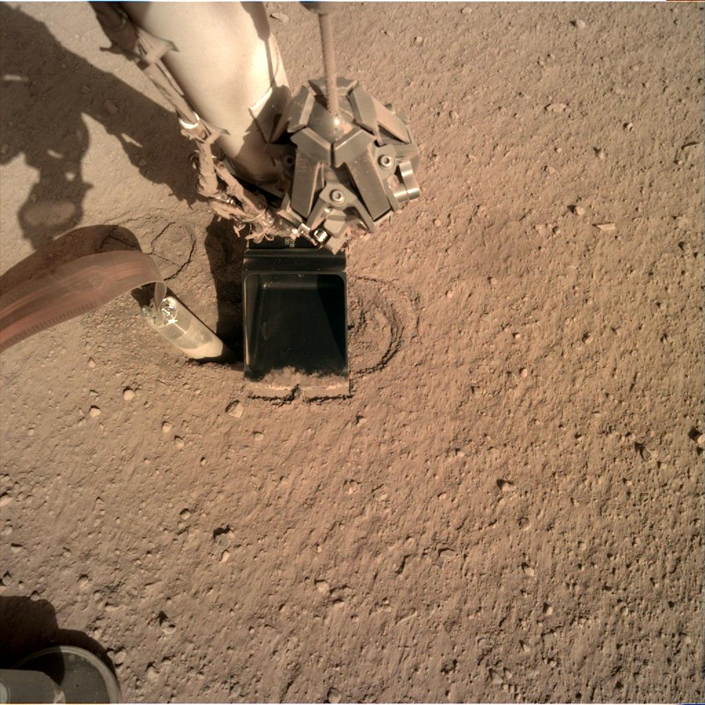 Nasa's Mars lander InSight acquired this image using its Instrument Deployment Camera on Sol 253