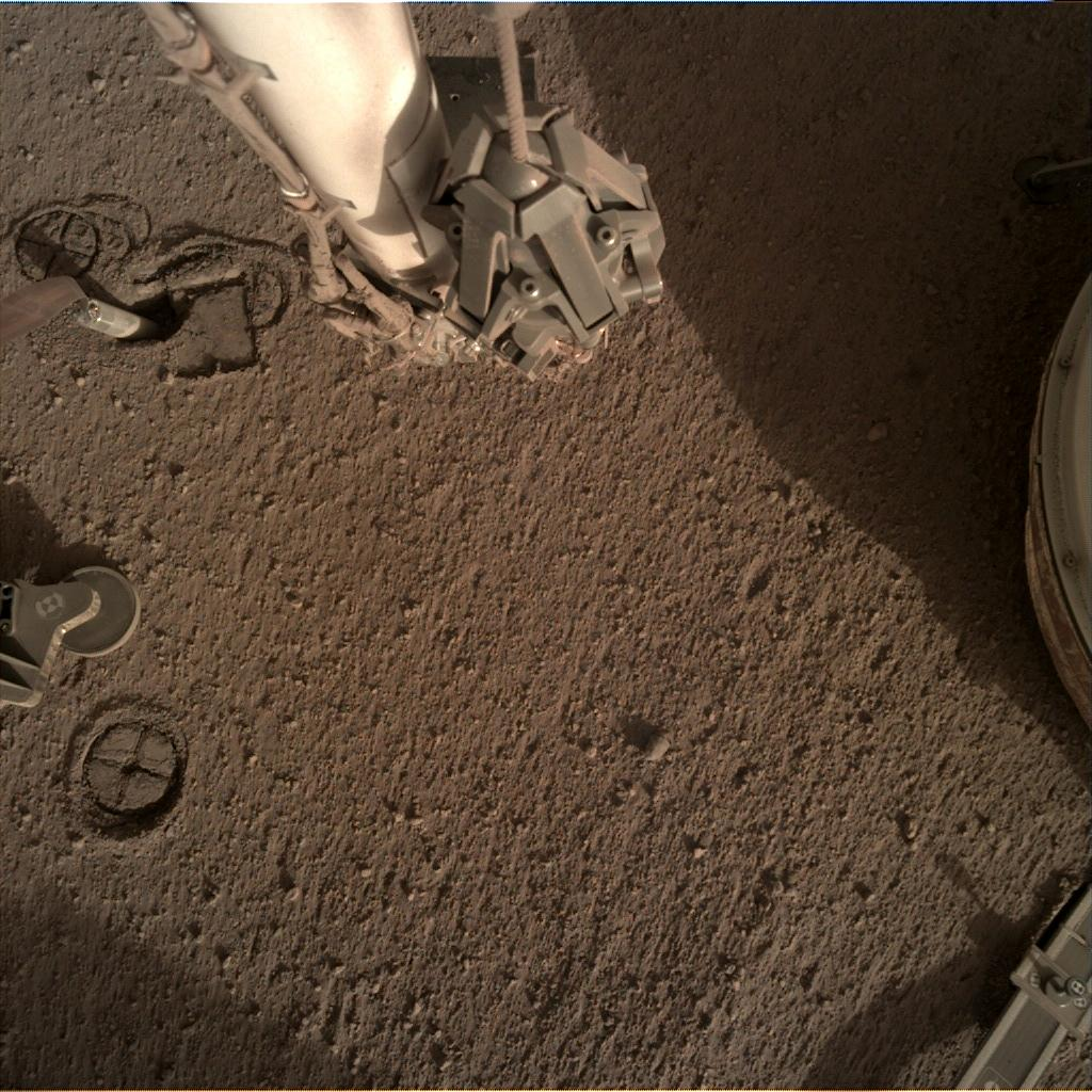 Nasa's Mars lander InSight acquired this image using its Instrument Deployment Camera on Sol 257