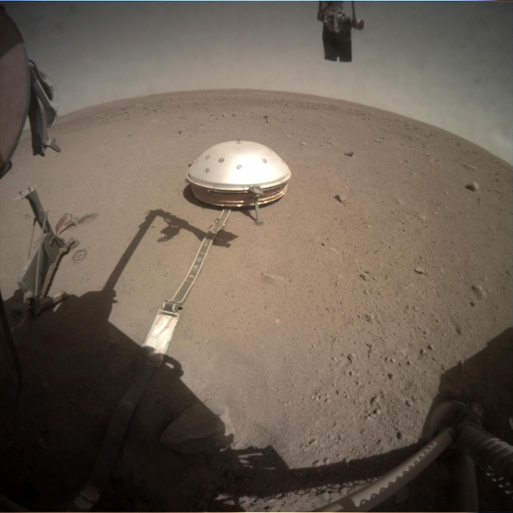 Nasa's Mars lander InSight acquired this image using its Instrument Context Camera on Sol 262