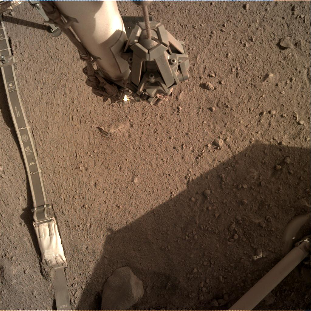 Nasa's Mars lander InSight acquired this image using its Instrument Deployment Camera on Sol 264