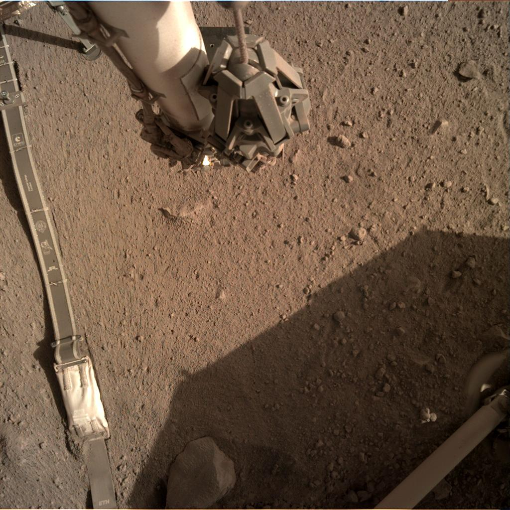 Nasa's Mars lander InSight acquired this image using its Instrument Deployment Camera on Sol 270