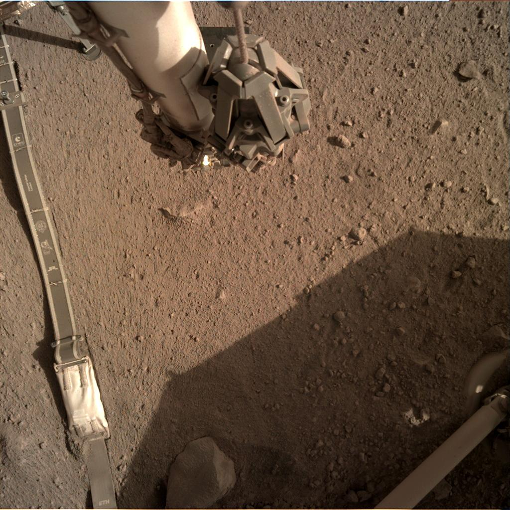 Nasa's Mars lander InSight acquired this image using its Instrument Deployment Camera on Sol 272