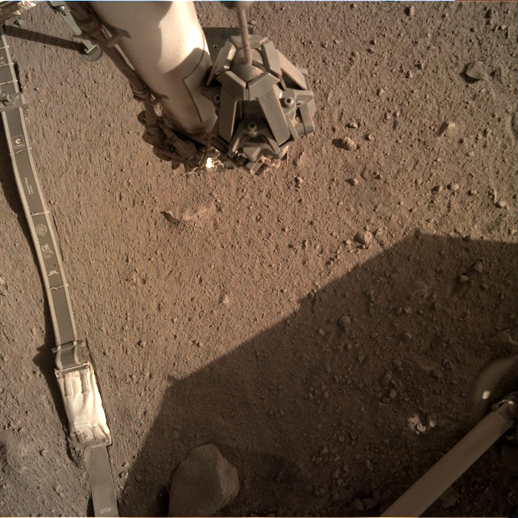 Nasa's Mars lander InSight acquired this image using its Instrument Deployment Camera on Sol 274