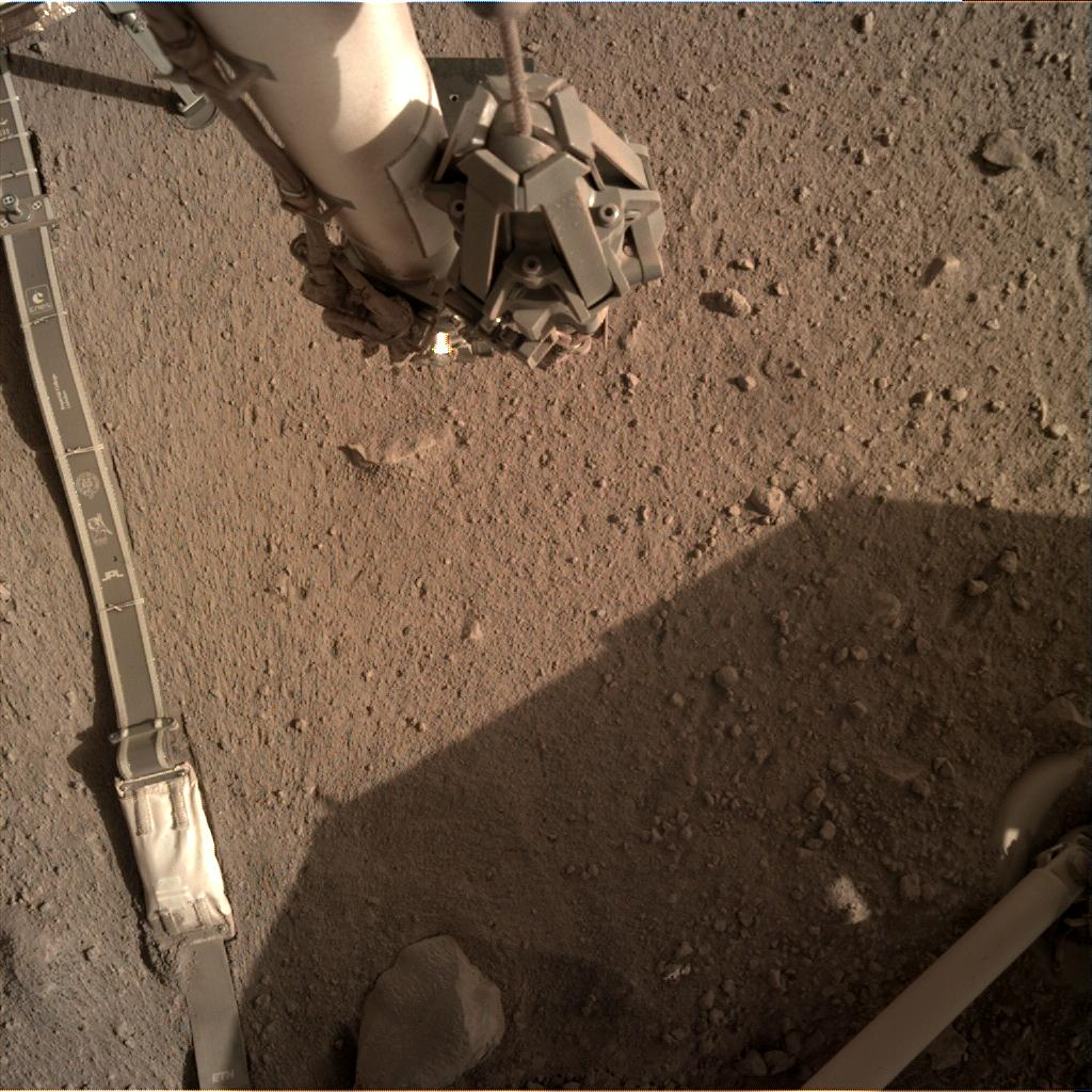 Nasa's Mars lander InSight acquired this image using its Instrument Deployment Camera on Sol 276