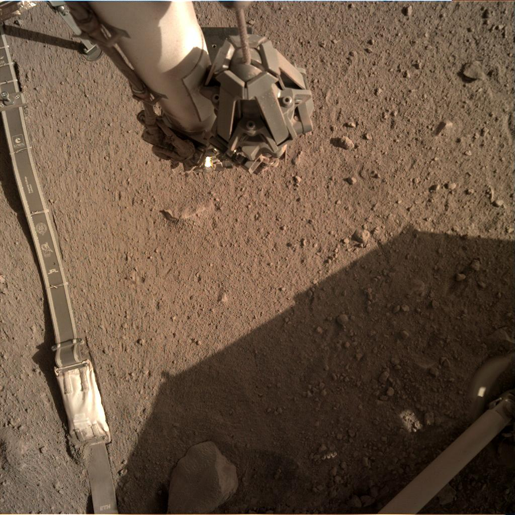 Nasa's Mars lander InSight acquired this image using its Instrument Deployment Camera on Sol 278