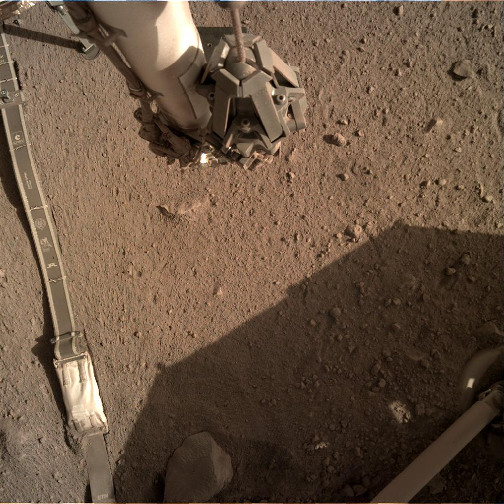 Nasa's Mars lander InSight acquired this image using its Instrument Deployment Camera on Sol 280