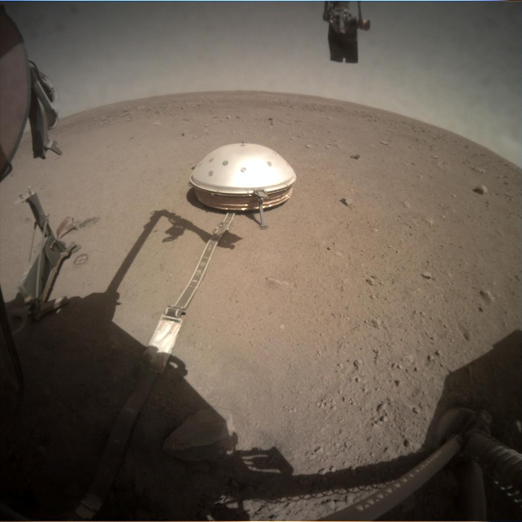 Nasa's Mars lander InSight acquired this image using its Instrument Context Camera on Sol 284