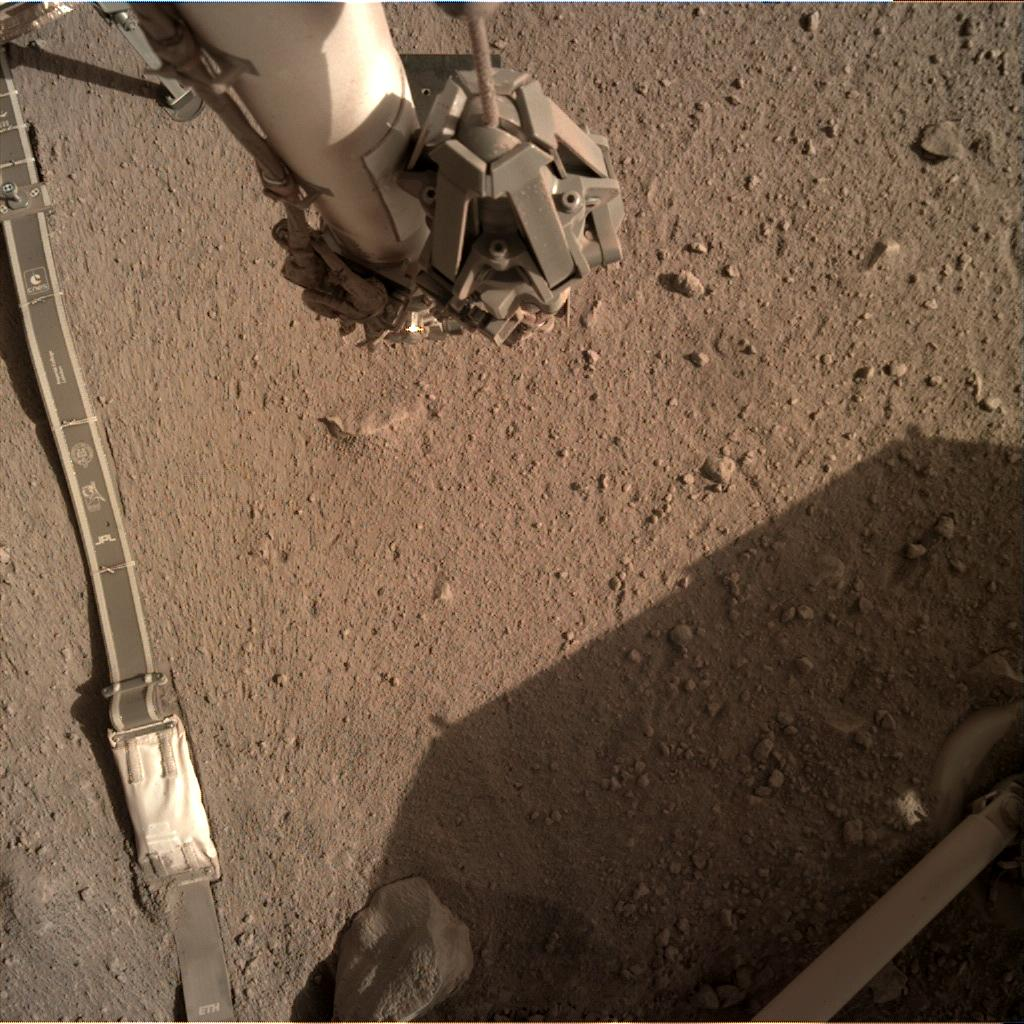 Nasa's Mars lander InSight acquired this image using its Instrument Deployment Camera on Sol 284