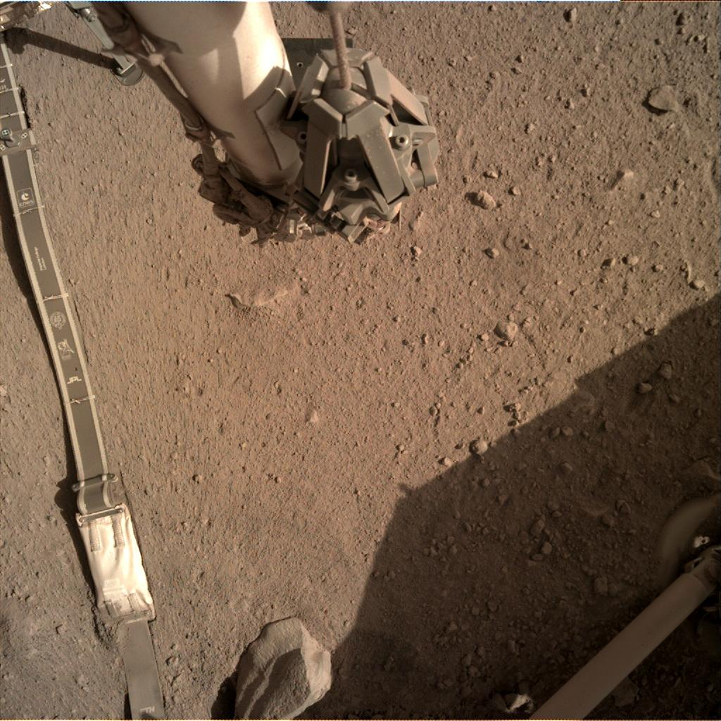Nasa's Mars lander InSight acquired this image using its Instrument Deployment Camera on Sol 288