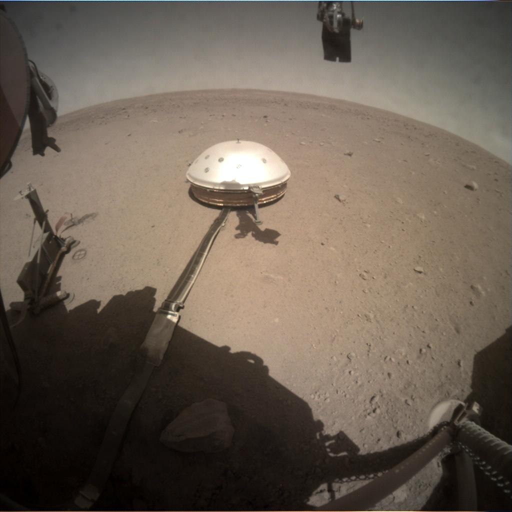Nasa's Mars lander InSight acquired this image using its Instrument Context Camera on Sol 289