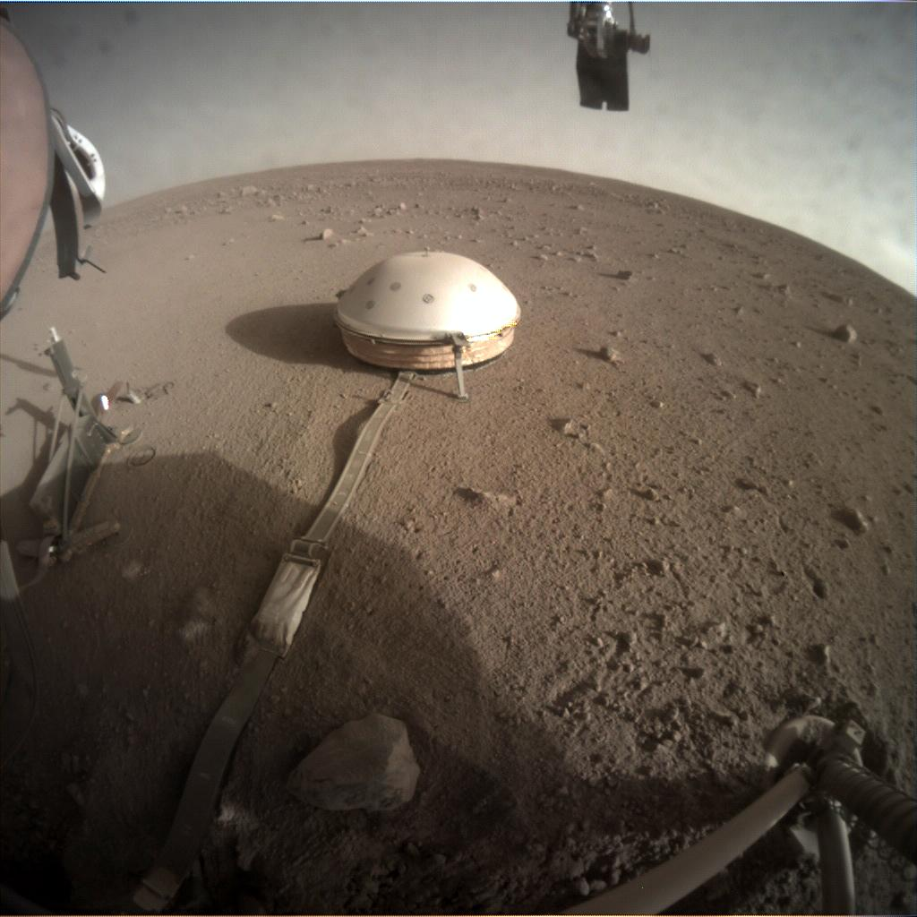 Nasa's Mars lander InSight acquired this image using its Instrument Context Camera on Sol 291