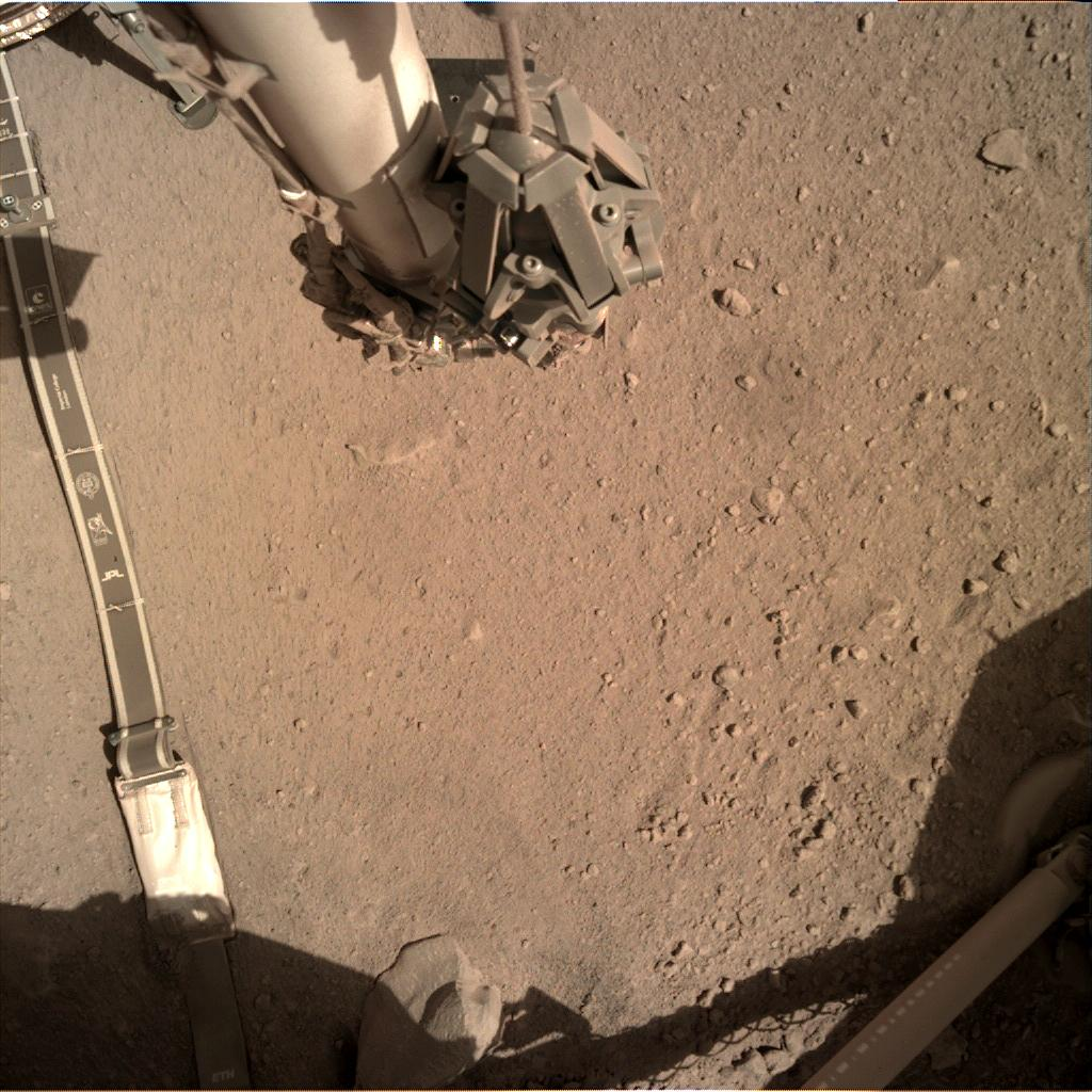 Nasa's Mars lander InSight acquired this image using its Instrument Deployment Camera on Sol 291