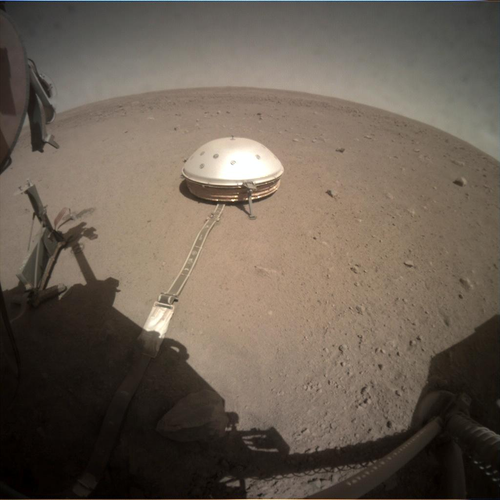 Nasa's Mars lander InSight acquired this image using its Instrument Context Camera on Sol 295