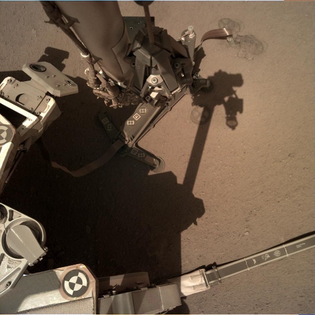 Nasa's Mars lander InSight acquired this image using its Instrument Deployment Camera on Sol 295