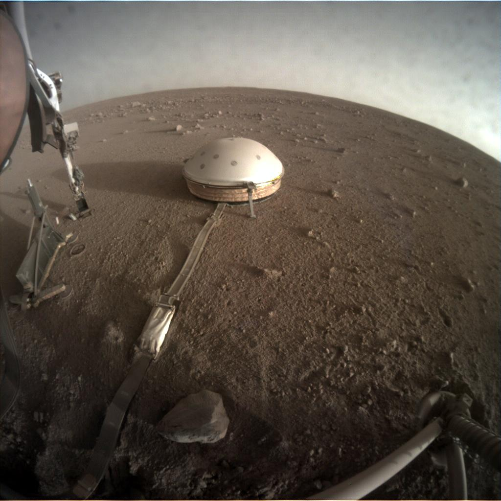 Nasa's Mars lander InSight acquired this image using its Instrument Context Camera on Sol 298