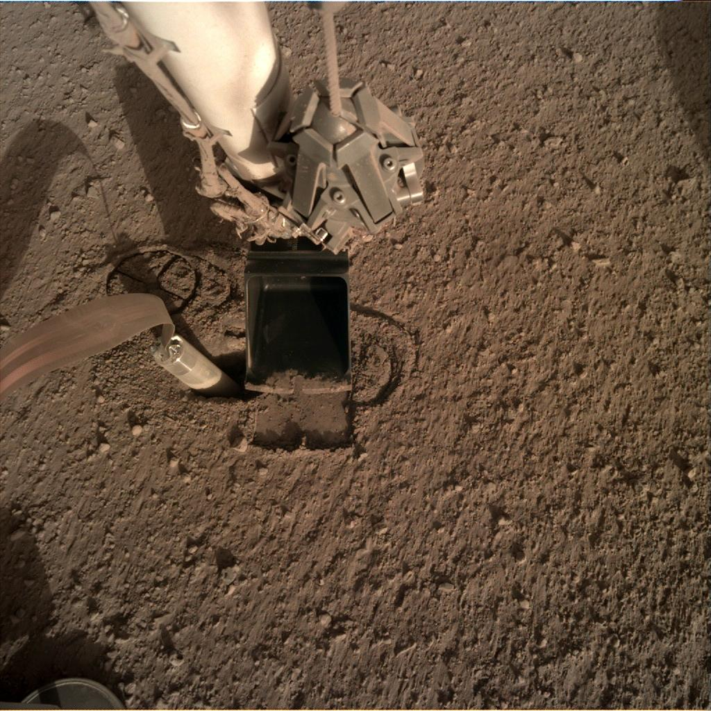 Nasa's Mars lander InSight acquired this image using its Instrument Deployment Camera on Sol 298