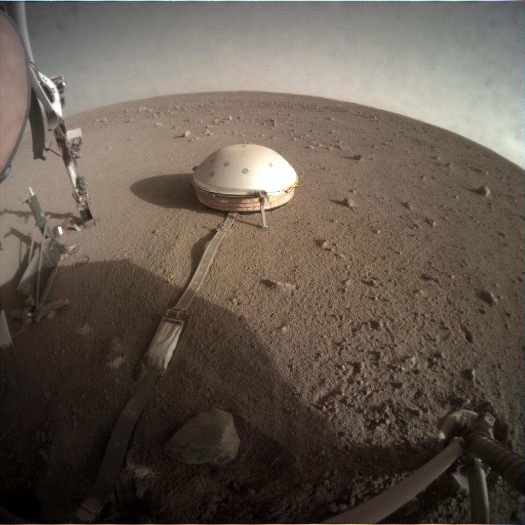 Nasa's Mars lander InSight acquired this image using its Instrument Context Camera on Sol 299