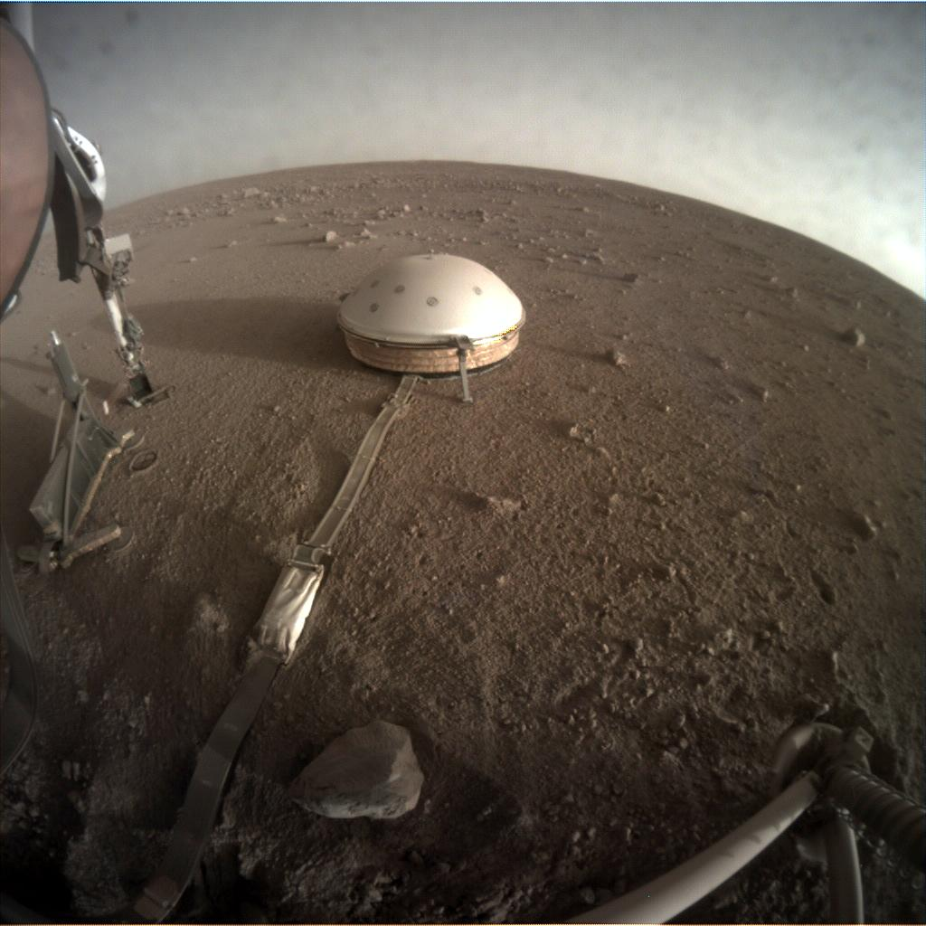 Nasa's Mars lander InSight acquired this image using its Instrument Context Camera on Sol 302