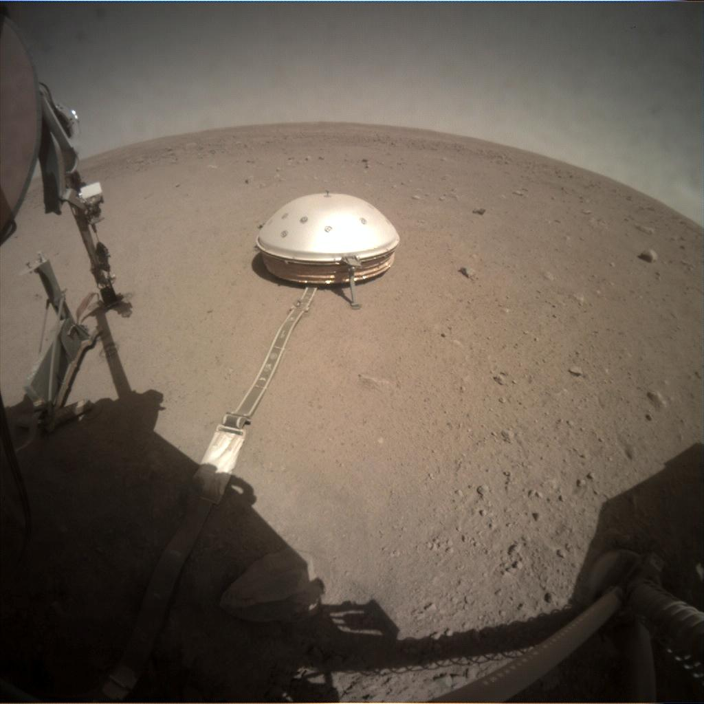 Nasa's Mars lander InSight acquired this image using its Instrument Context Camera on Sol 305