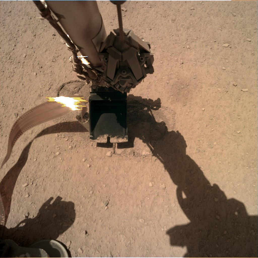 Nasa's Mars lander InSight acquired this image using its Instrument Deployment Camera on Sol 305