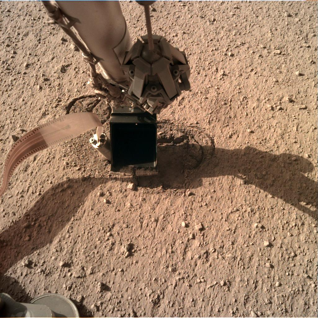 Nasa's Mars lander InSight acquired this image using its Instrument Deployment Camera on Sol 306