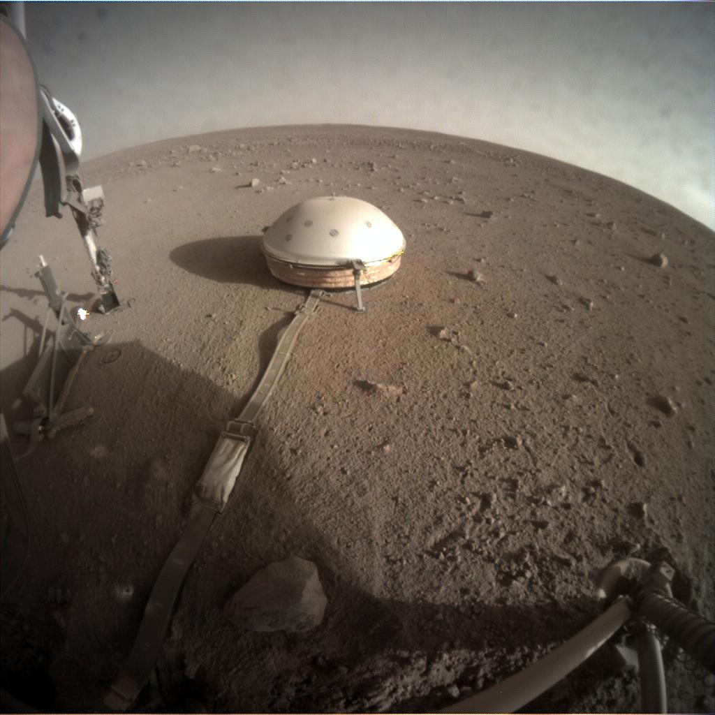 Nasa's Mars lander InSight acquired this image using its Instrument Context Camera on Sol 308