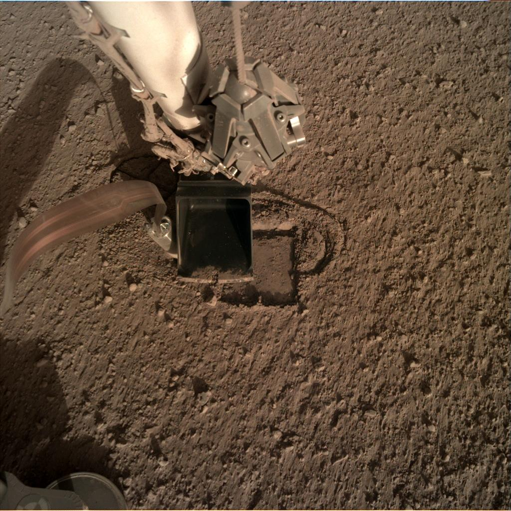 Nasa's Mars lander InSight acquired this image using its Instrument Deployment Camera on Sol 308