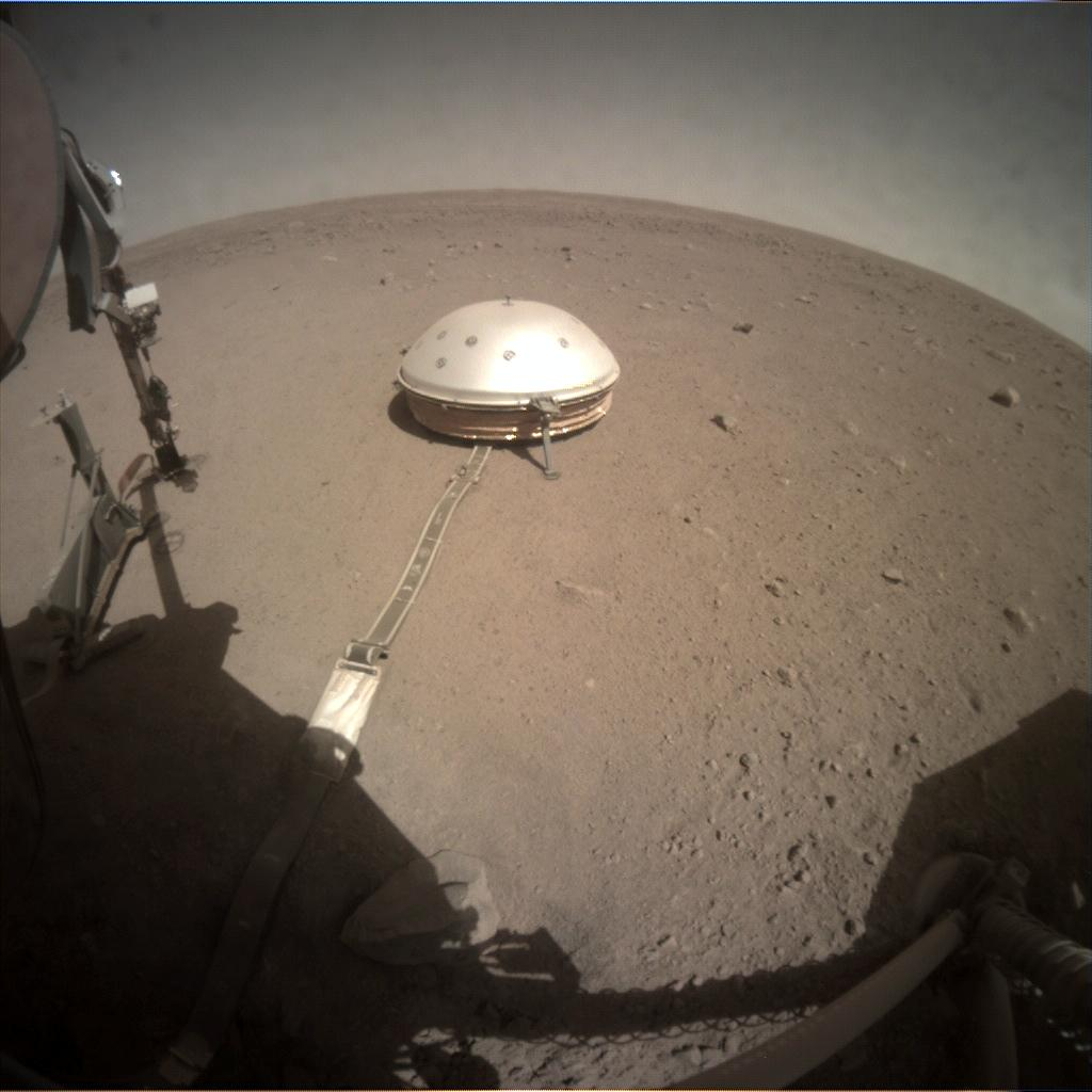 Nasa's Mars lander InSight acquired this image using its Instrument Context Camera on Sol 309