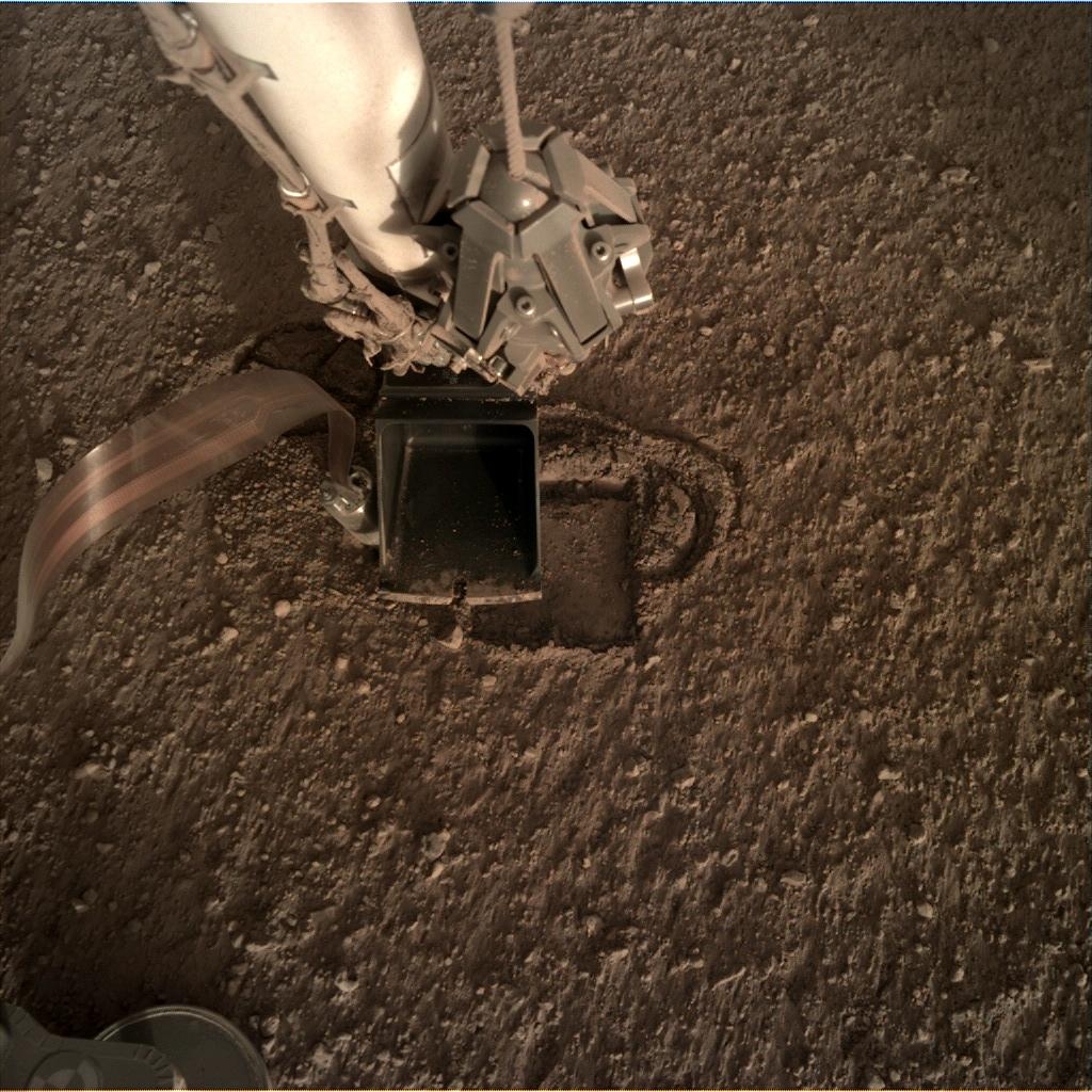 Nasa's Mars lander InSight acquired this image using its Instrument Deployment Camera on Sol 311