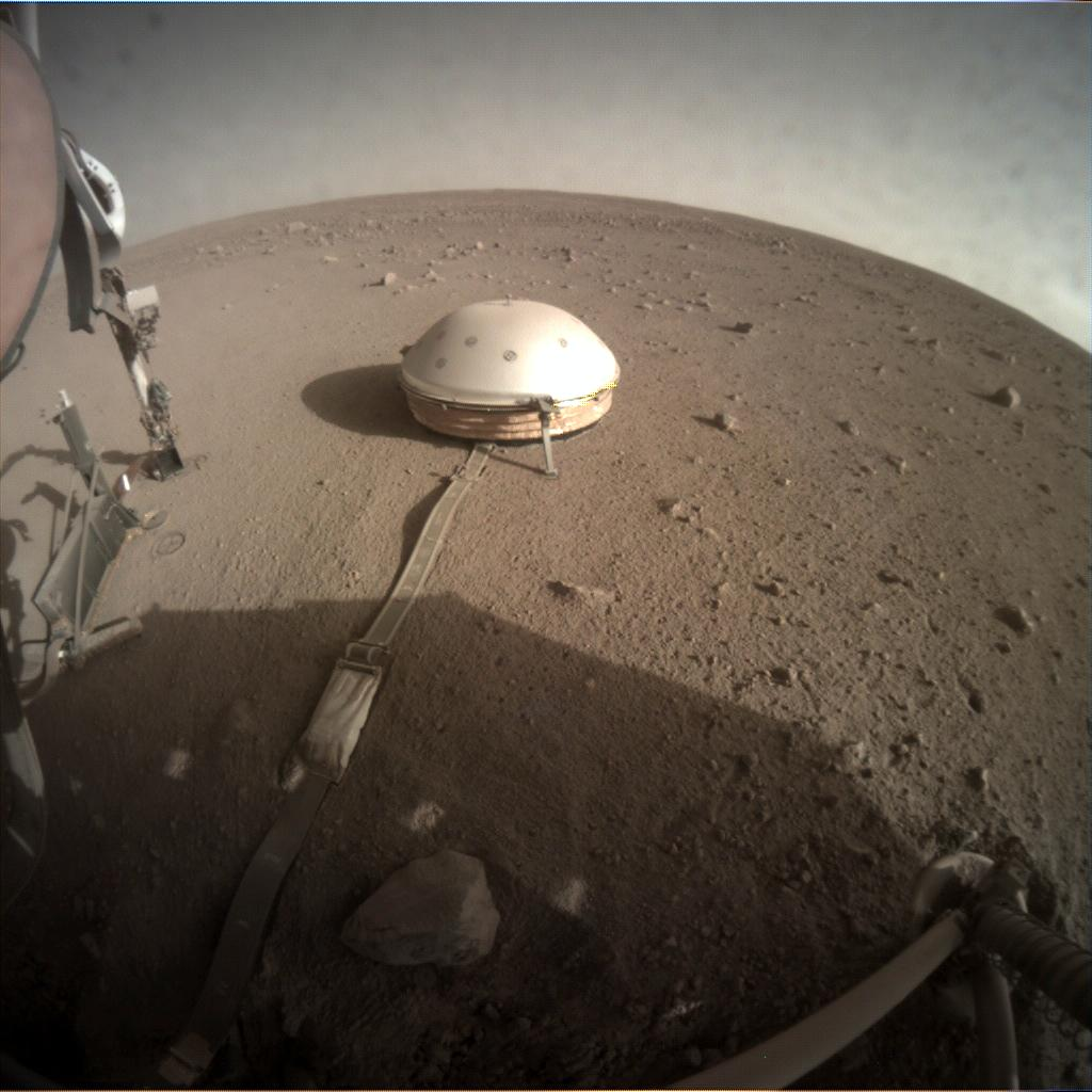 Nasa's Mars lander InSight acquired this image using its Instrument Context Camera on Sol 314