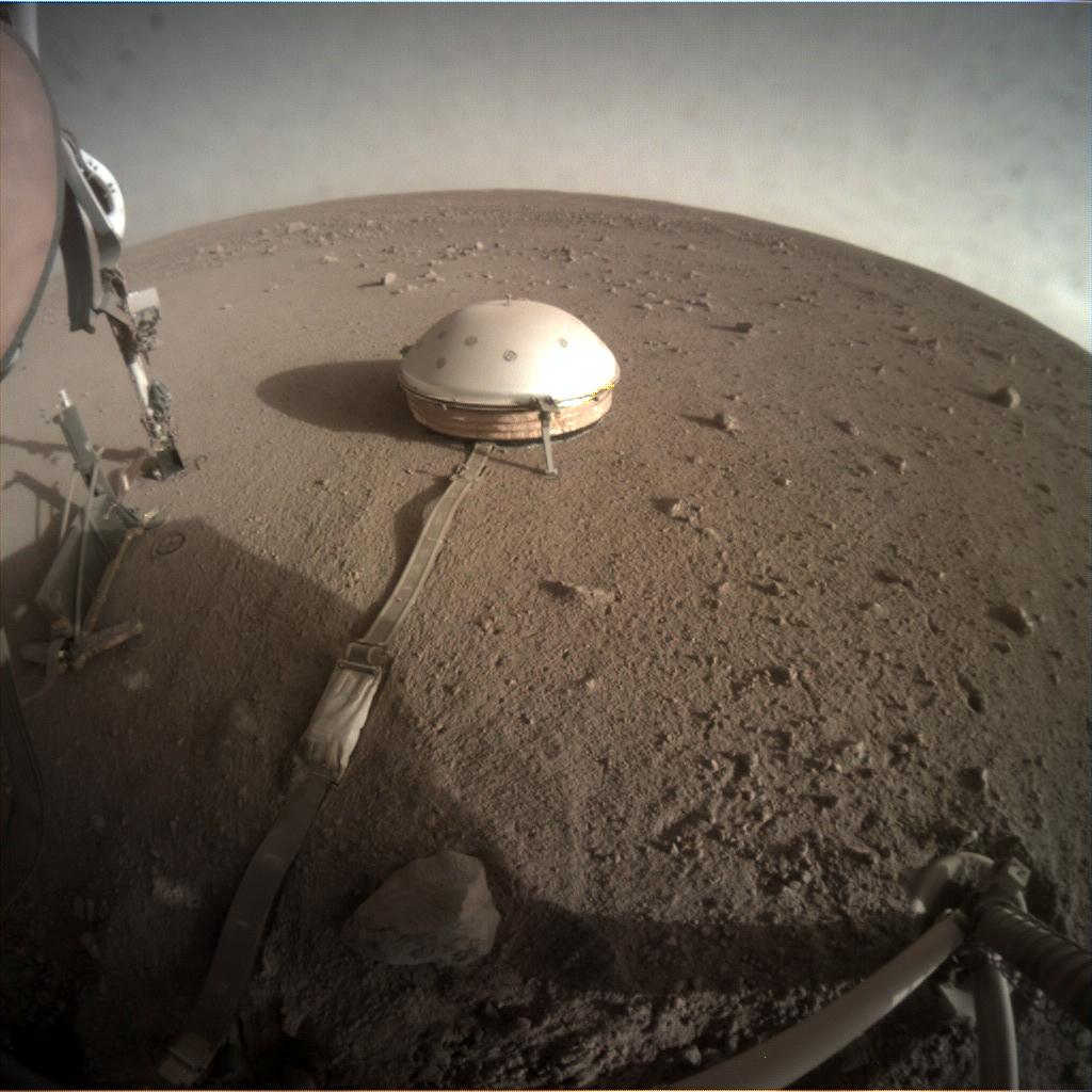 Nasa's Mars lander InSight acquired this image using its Instrument Context Camera on Sol 315