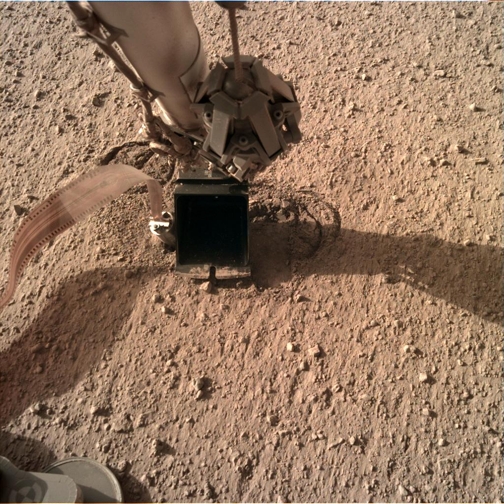 Nasa's Mars lander InSight acquired this image using its Instrument Deployment Camera on Sol 316