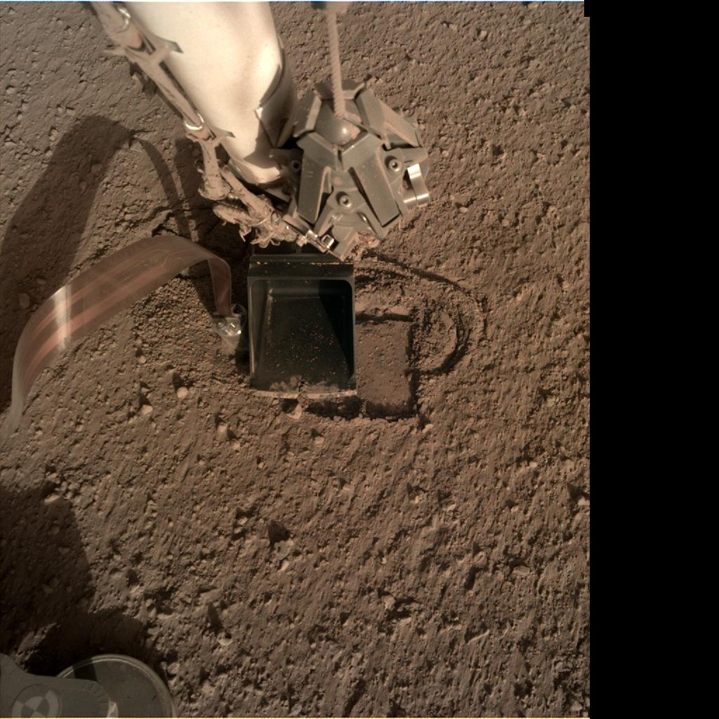 Nasa's Mars lander InSight acquired this image using its Instrument Deployment Camera on Sol 318