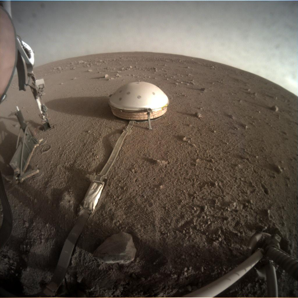 Nasa's Mars lander InSight acquired this image using its Instrument Context Camera on Sol 319
