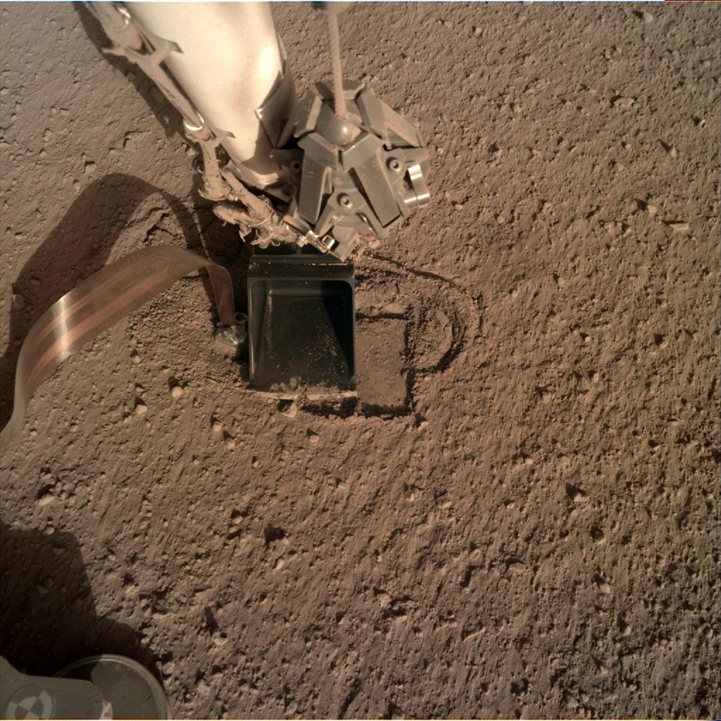 Nasa's Mars lander InSight acquired this image using its Instrument Deployment Camera on Sol 319