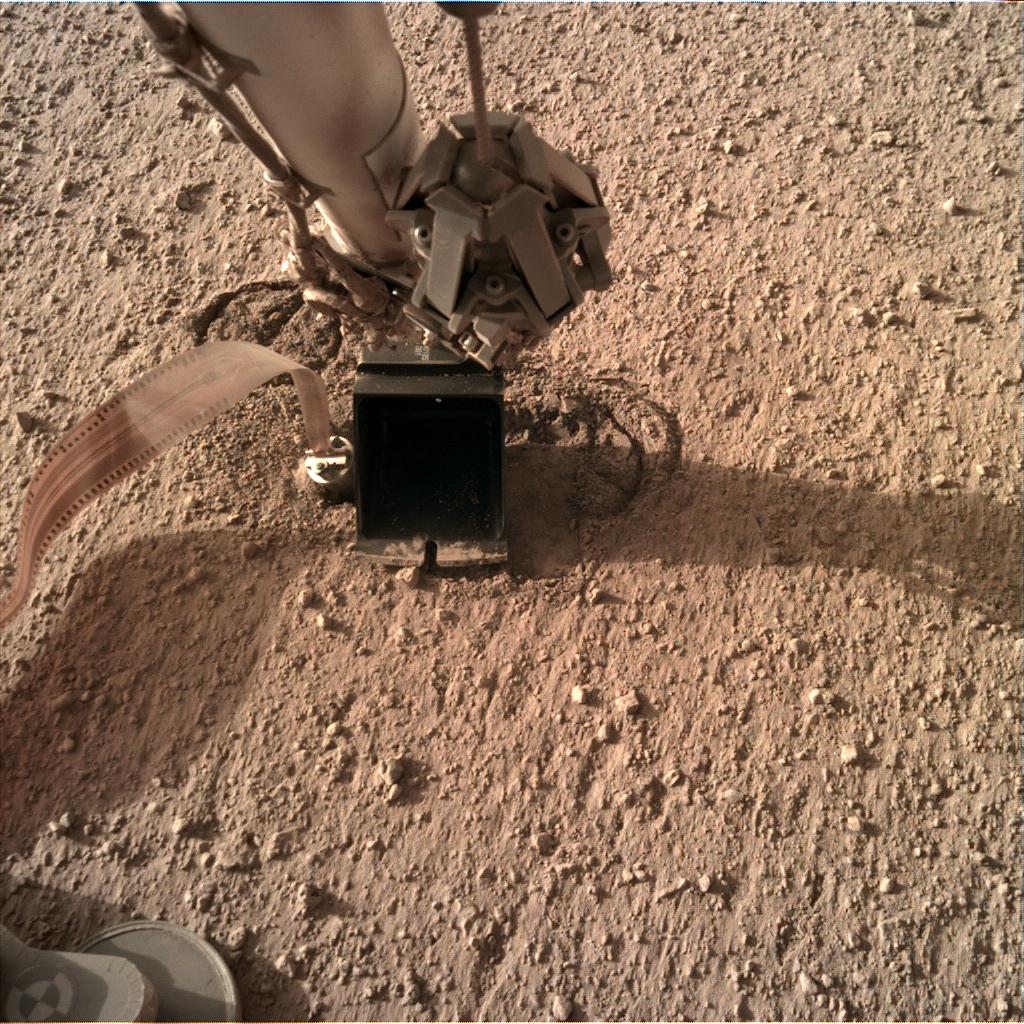 Nasa's Mars lander InSight acquired this image using its Instrument Deployment Camera on Sol 320