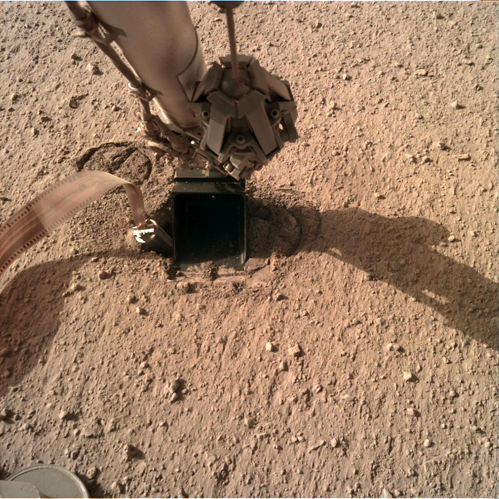 Nasa's Mars lander InSight acquired this image using its Instrument Deployment Camera on Sol 323