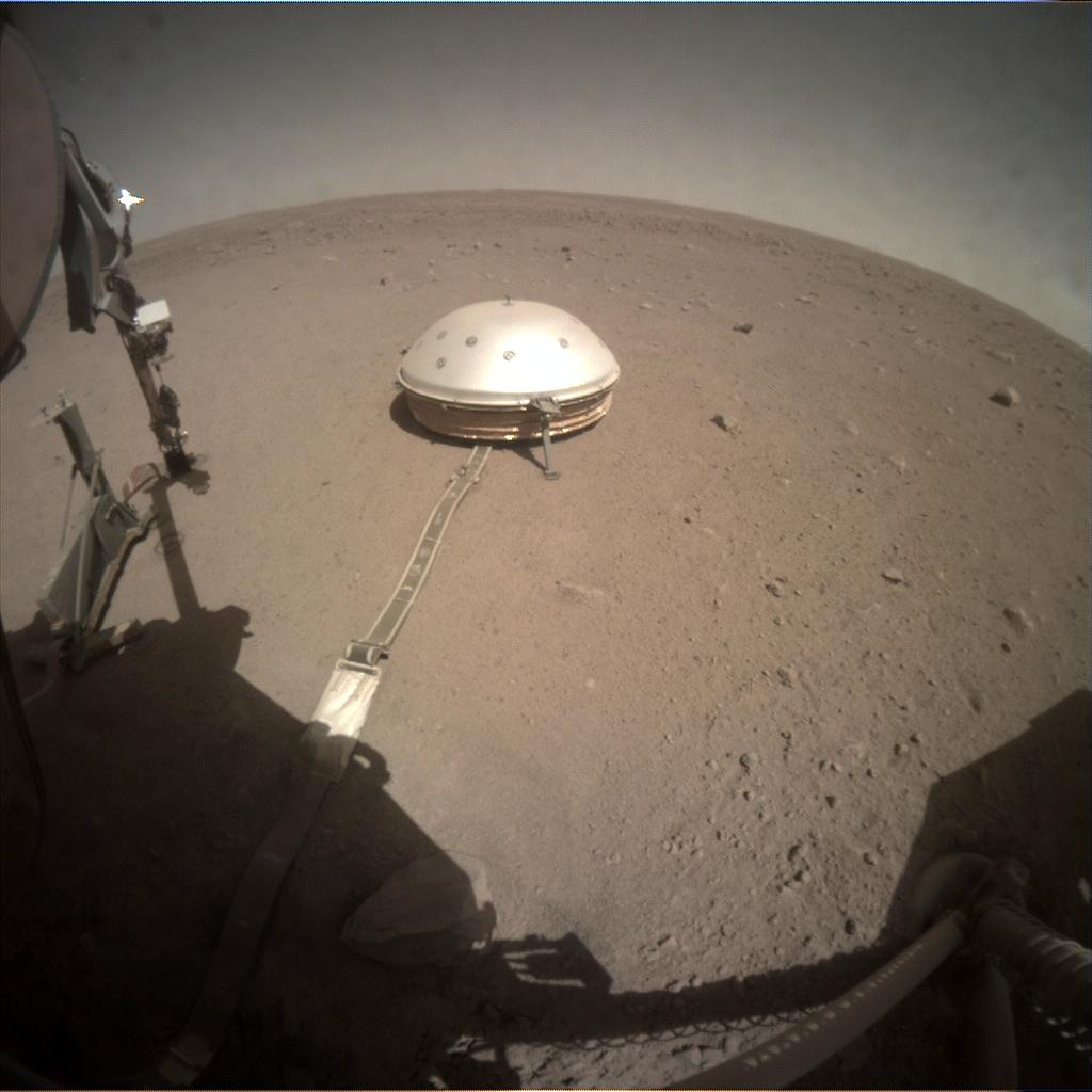 Nasa's Mars lander InSight acquired this image using its Instrument Context Camera on Sol 324