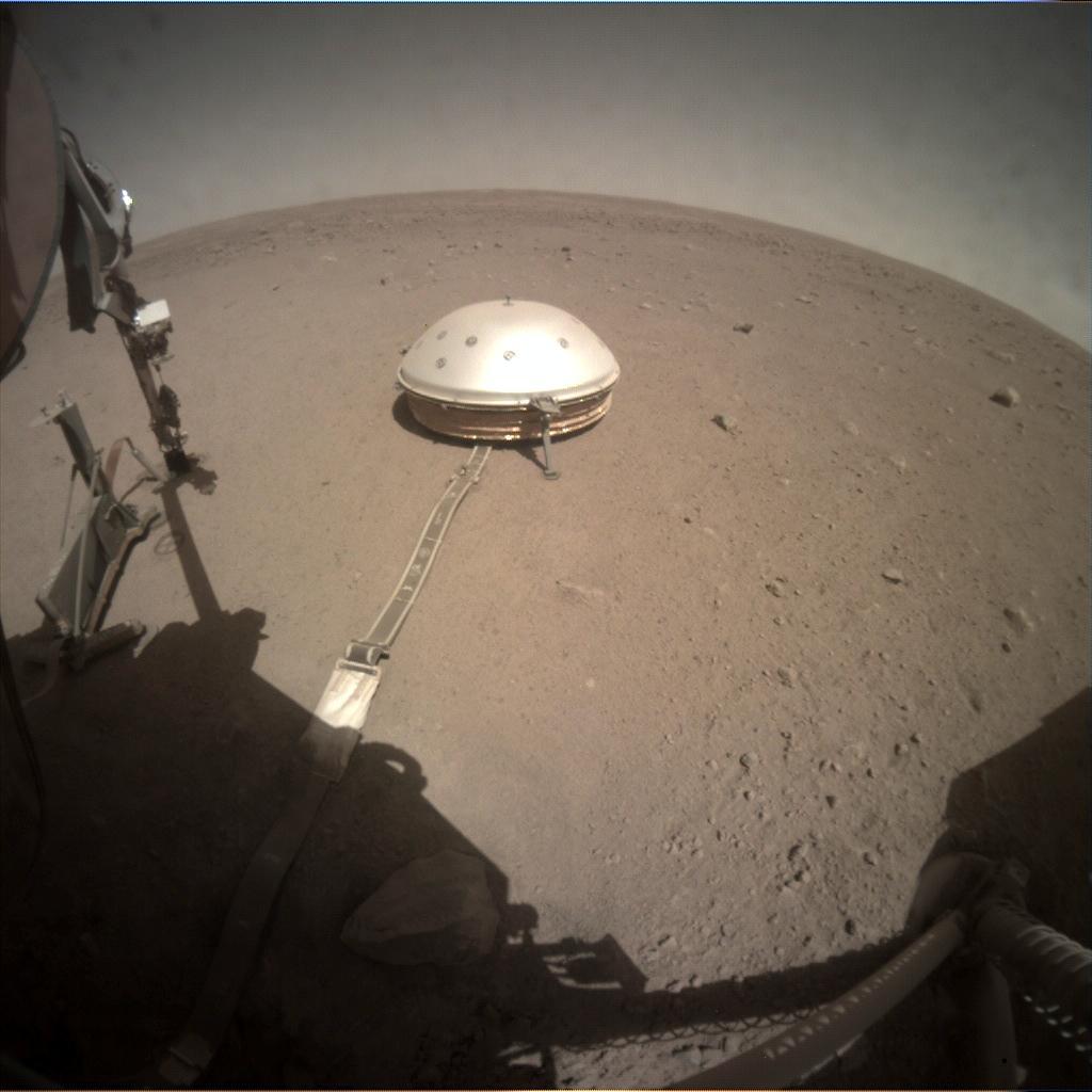 Nasa's Mars lander InSight acquired this image using its Instrument Context Camera on Sol 325
