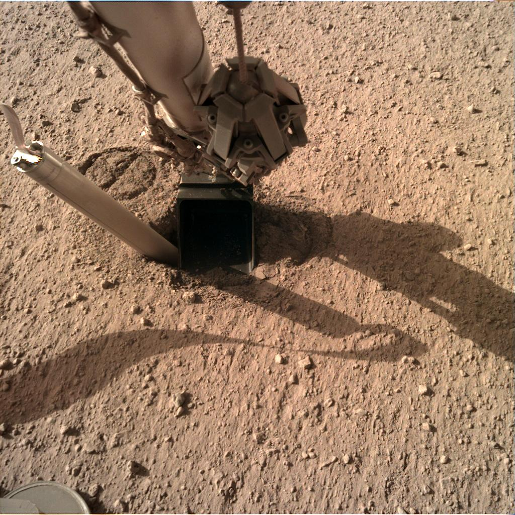 Nasa's Mars lander InSight acquired this image using its Instrument Deployment Camera on Sol 326